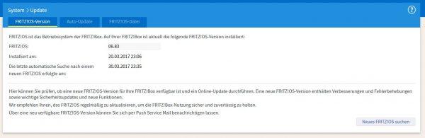FRITZ!OS Version